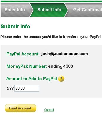 How to Fund PayPal Account With Cash Via MoneyPak – No Credit Card